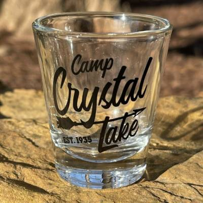 Camp Crystal Lake Black Shot Glass