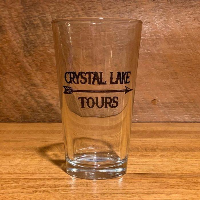 Crystal Lake Tours Arrow Pint Glass