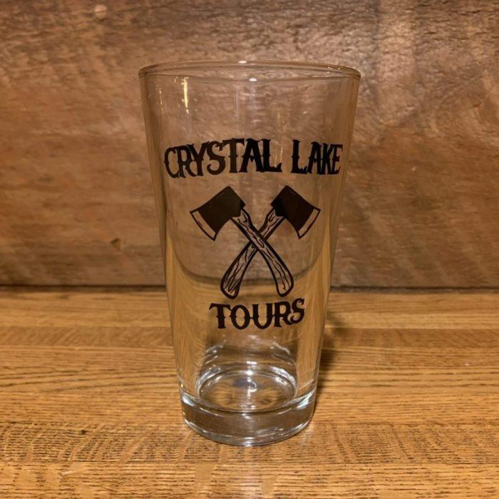 Crystal Lake Tours Axe Pint Glass