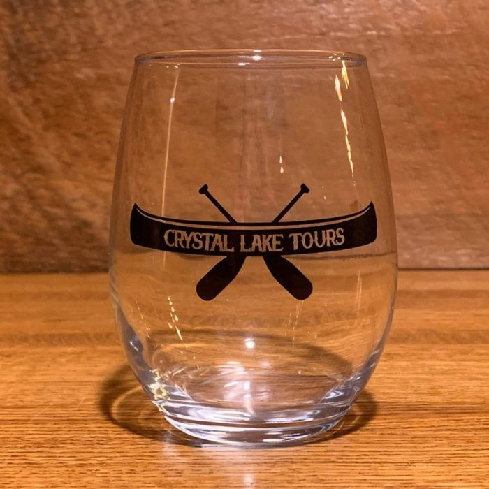 Crystal Lake Tours Wine Glass