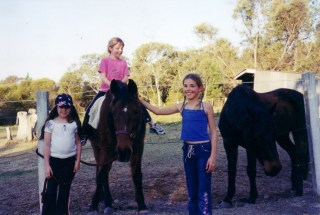 Crystal, Bianca and Ashlee with Tiffy and Milo 2004