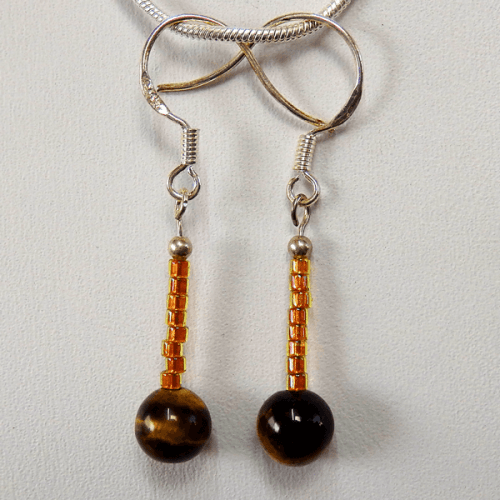 golden_brown_tiger_eye_bead-seed_beads-sterling_silver-french_wire-earrings