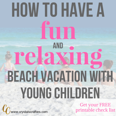 How to have a fun and relaxing beach vacation with young children