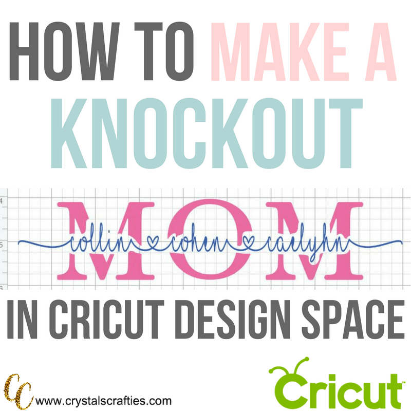 How to make a knockout in Cricut Design Space