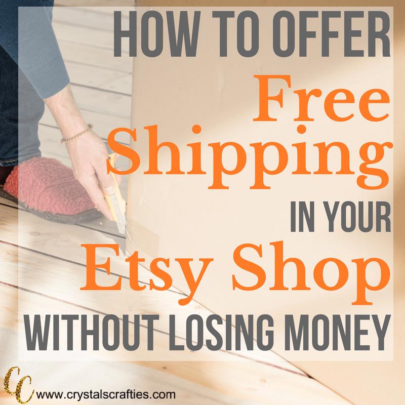 How to offer free shipping on Etsy #etsyfreeshipping #etsyshopowner #etsytutorials #howtoetsy