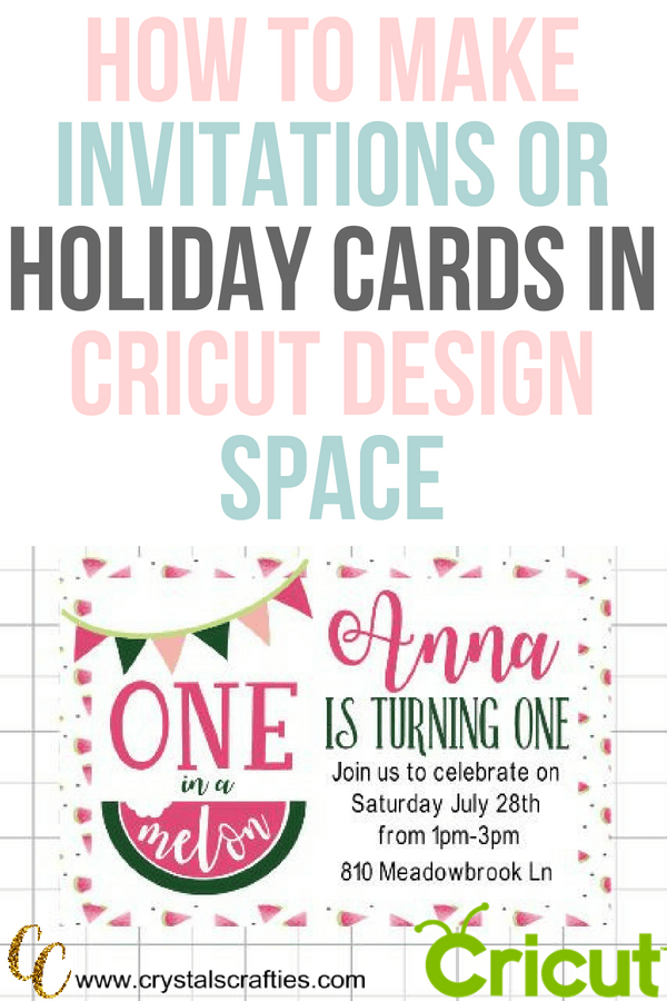How To Make Birthday Invitations In Design Space