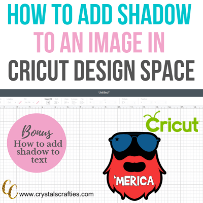 How to add shadow to an image in Cricut Design Space