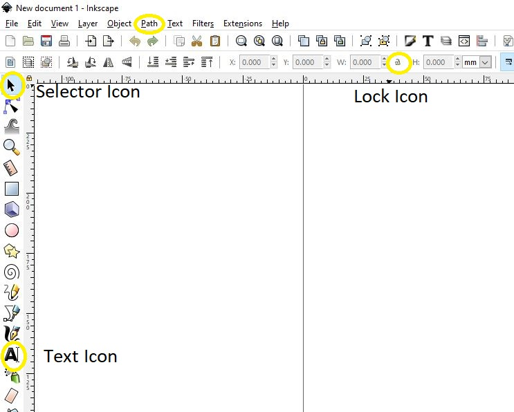 Icon Images for Inkscape