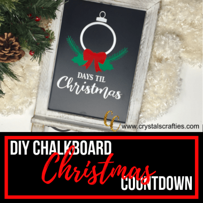 DIY Christmas Countdown Chalkboard