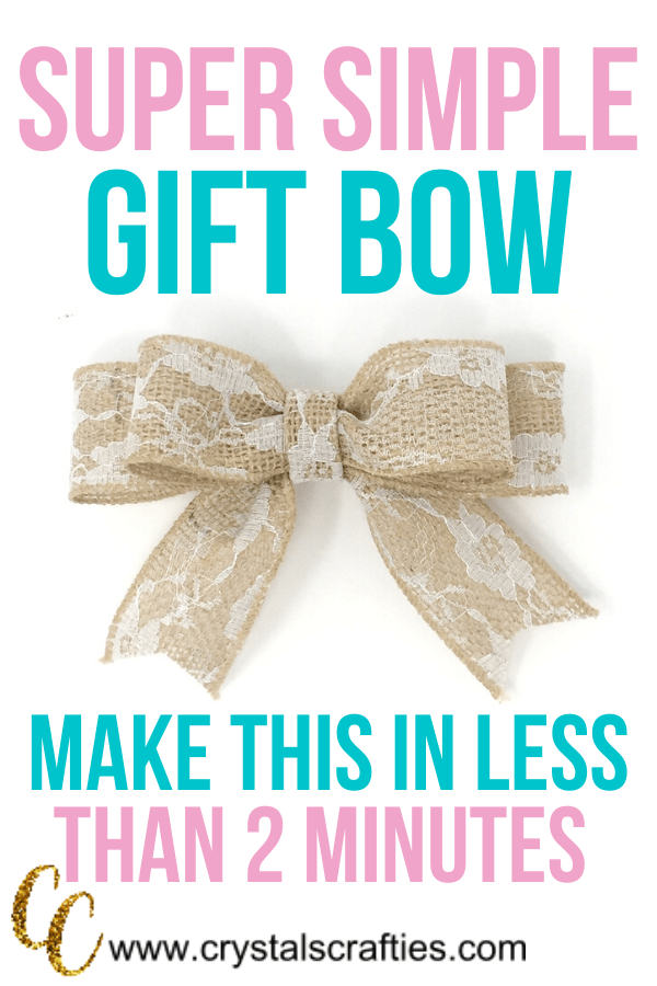 Learn how to make this super simple gift bow in less than 2 minutes.