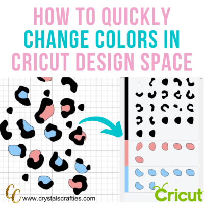 How to quickly change colors in Cricut Design Space