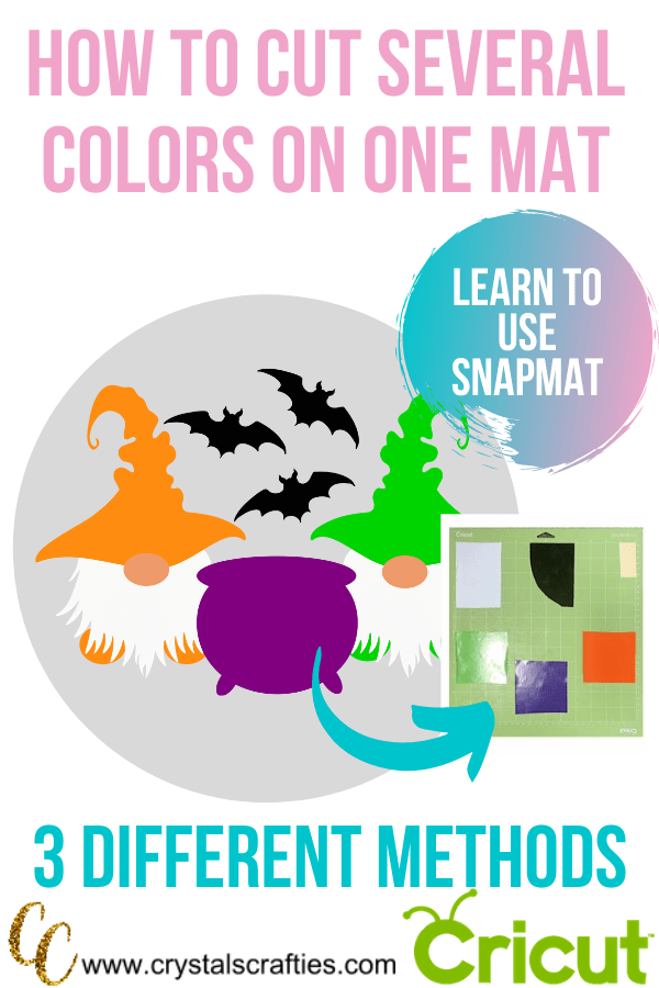 How to cut several colors on one mat