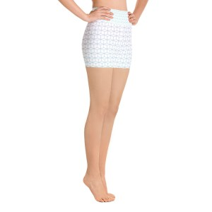 Fractal Field Pattern Yoga Shorts