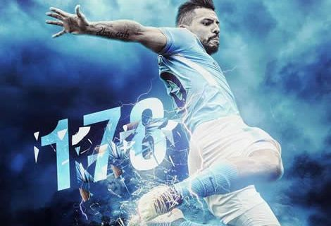 Sergio Aguero Becomes Man City's All -time Leading Goal Scorer
