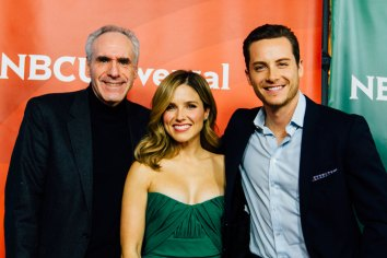 Ross Crystal with Sophia Bush and Jesse Lee Soffer 'Chicago-PD'