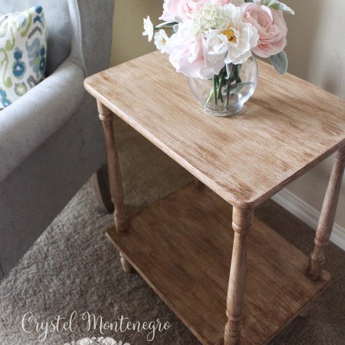 Faux antiqued wood look using chalk paint