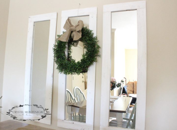 DIY rustic mirrors, rustic full length mirrors, framed door mirrors