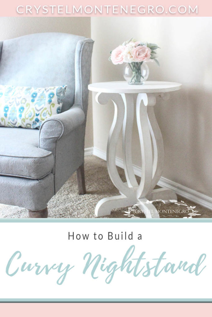 DIY / How to Build a Curvy Nightstand / End Table