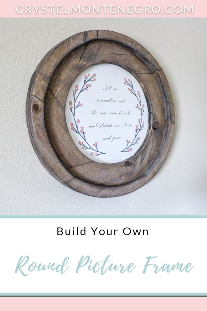 Easy DIY Round Picture Frame or Mirror made from Wood