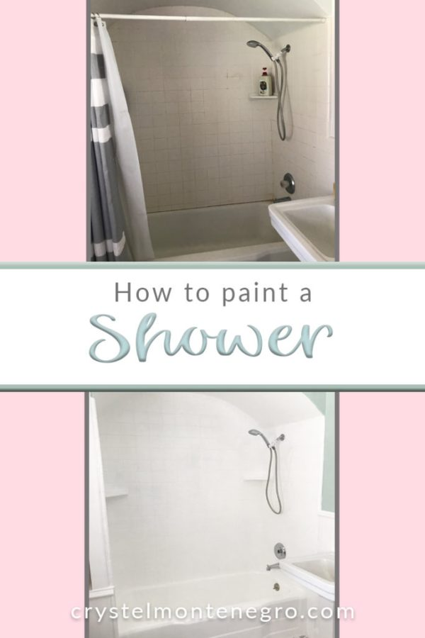 How to paint a shower, bathroom shower, white shower, shower makeover, shower update