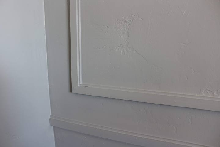 close up of finished painted molding