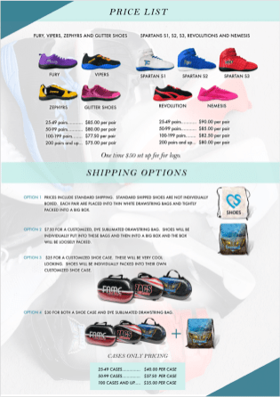 shoe pricing