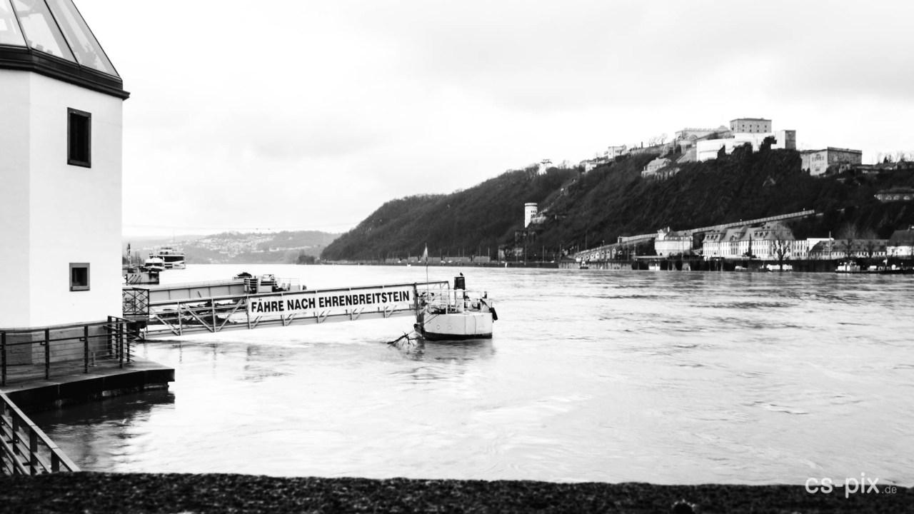 Rhein-Hochwasser in Koblenz