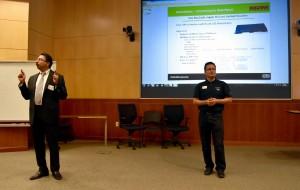 Dr. Gopal Gupta, UT Dallas CS Department Head, and Dr. Miguel Razo , UTDesign Computer Science Director