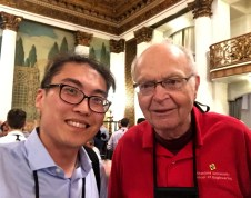 Yuan Tian with Turing laureate, Dr. Donald E. Knuth