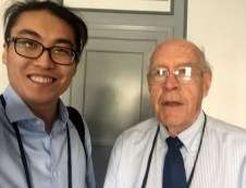 Yuan Tian with Turing laureate, Dr. Fred Brooks