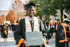 Celebrating his Bachelor of Science in computer science, Oussy Sylla said graduating from UTD brings him a great sense of pride as he represents his home country of Mali.