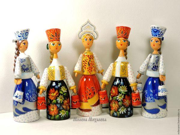 Русская краса. Расписные сувенирные куклы в русском стиле ...
