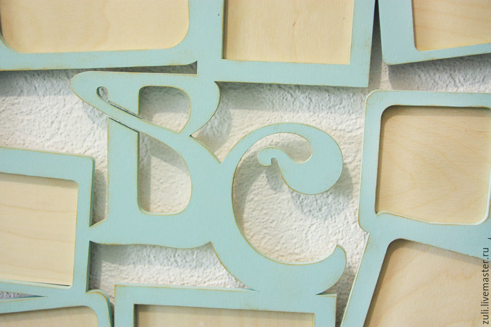 Interior design word collage with initials and frames for photo     Order Interior design word collage with initials and frames for