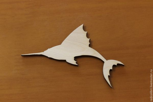 Заготовки для творчества - дельфин, ящерица, рыба-меч ...