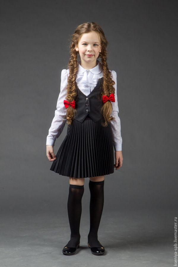 Комплект юбка и жилетка для девочки девушки 4