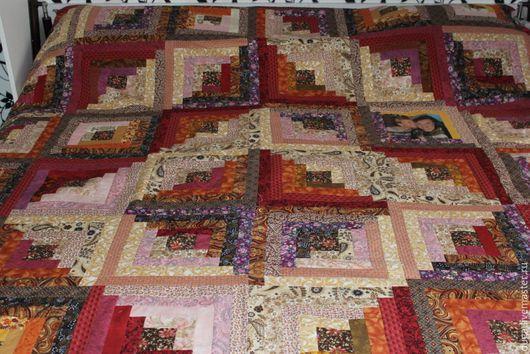 Купить Лоскутное покрывало одеяло с фото 171 Вишенка с