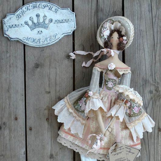 Купить кукла тильда ручной работы МАДЕМУАЗЕЛЬ) - серый ...