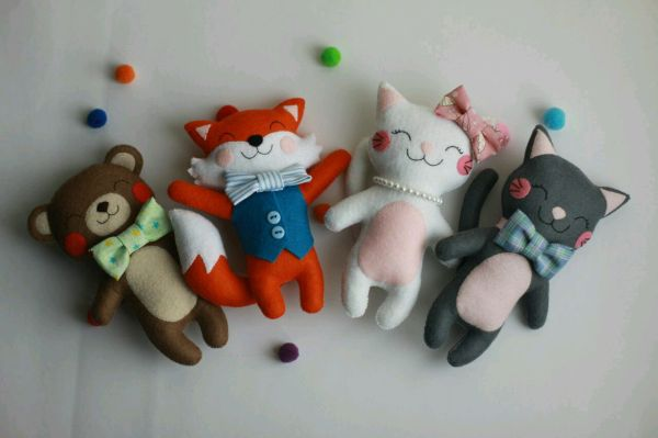 Котики - игрушки из фетра – заказать на Ярмарке Мастеров ...