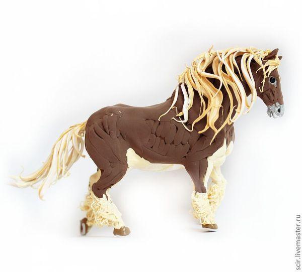"""Фигурка """"Тяжеловоз - лошадь стихии земли"""" – заказать на ..."""