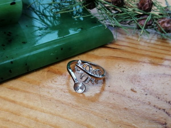 Основа для кольца посеребренная Арт. ОК92596 – купить на ...