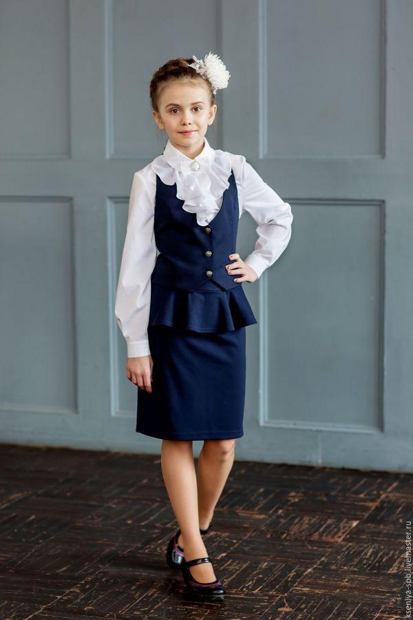 Купить Школьная форма для девочки комплект жилетка юбка