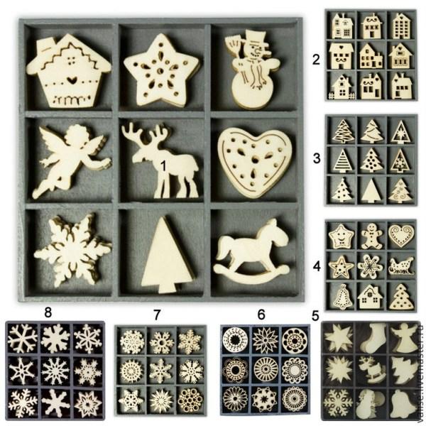Тематические наборы декоративных элементов (дерево ...