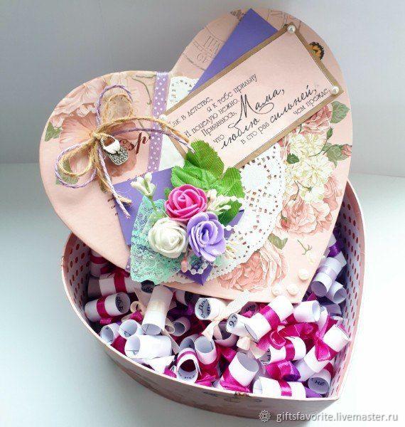 Коробочка для мамы с душевными пожеланиями – купить на ...