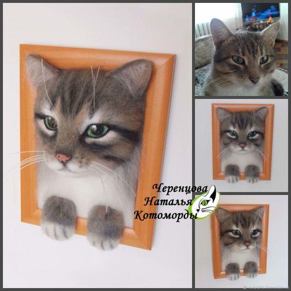 Портрет кота по Фото – заказать на Ярмарке Мастеров ...