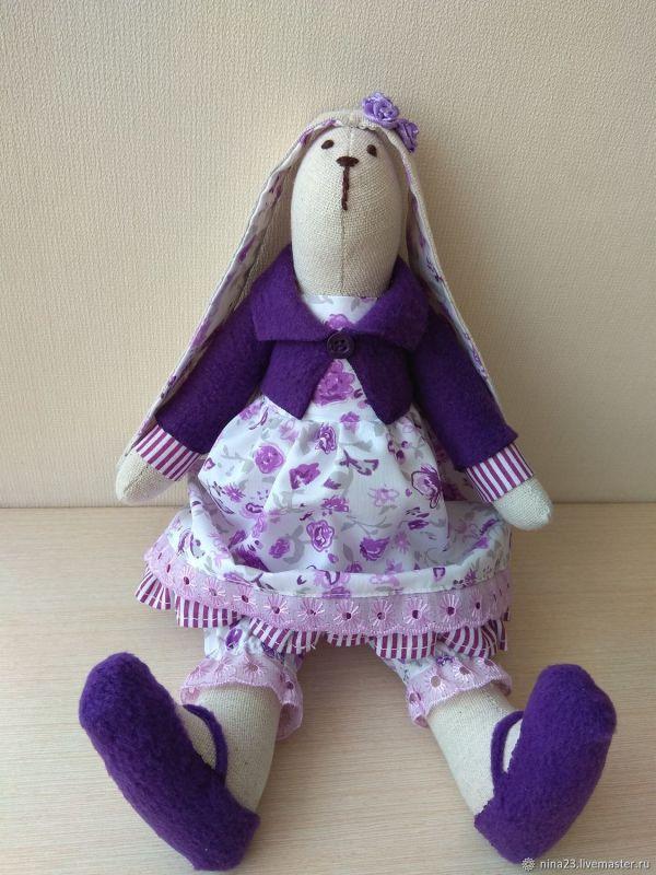 Кукла тильда заяц Лаванда – купить на Ярмарке Мастеров ...