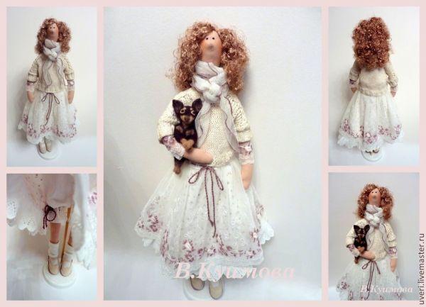 Купить Кукла тильда Ангелина в интернет магазине на ...