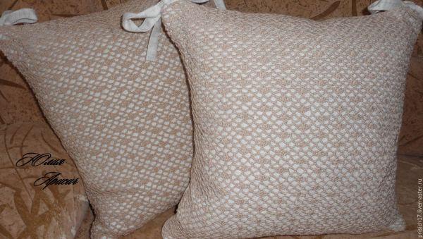 Наволочки для подушек крючком.Кружевные подушки. Ручная ...