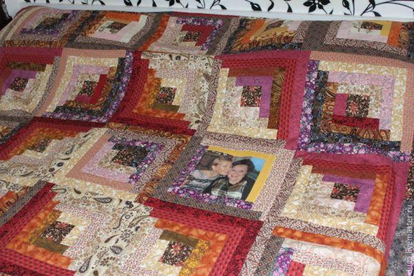 Лоскутное покрывало одеяло с фото 171 Вишенка с изюминкой