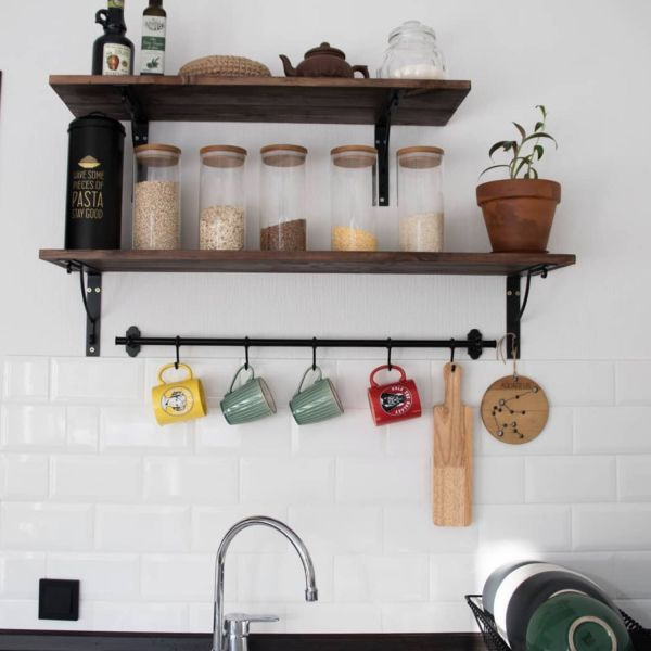 Полки деревянный для кухни в стиле лофт – заказать на ...