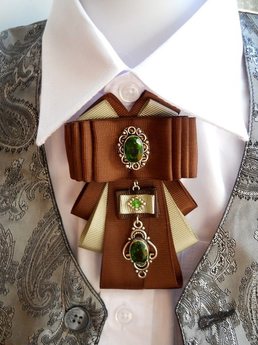 Купить Брошьгалстук 2 вида зеленый брошьорден брошь